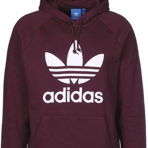 Adidas hoodie burgundy
